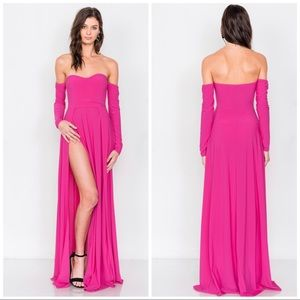 Dresses & Skirts - Pink Luxury Goddess Style Long Maxi Dress